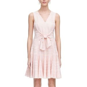 Rebecca Taylor Pink Embroidered Gauze Dress